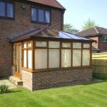 Rear Conservatory with Blinds Installed