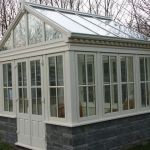 Cream Painted Timber Display Conservatory